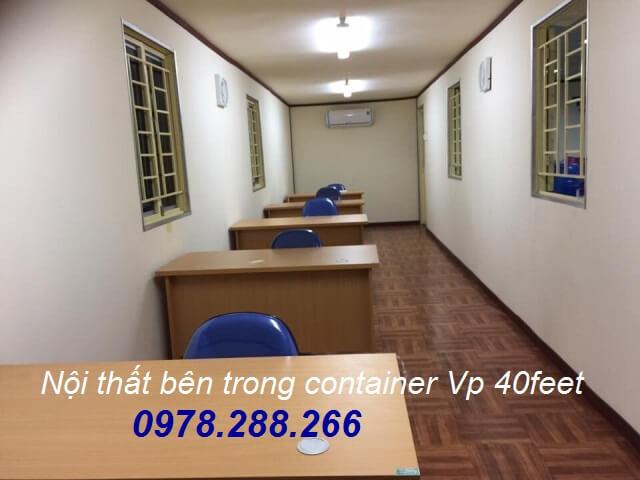 Container văn phòng 40feet cũ
