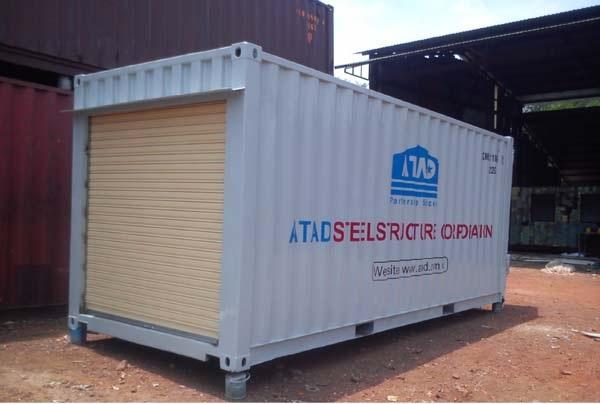 Container lắp 1 cửa cuốn