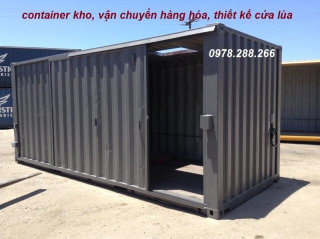 container cửa kéo