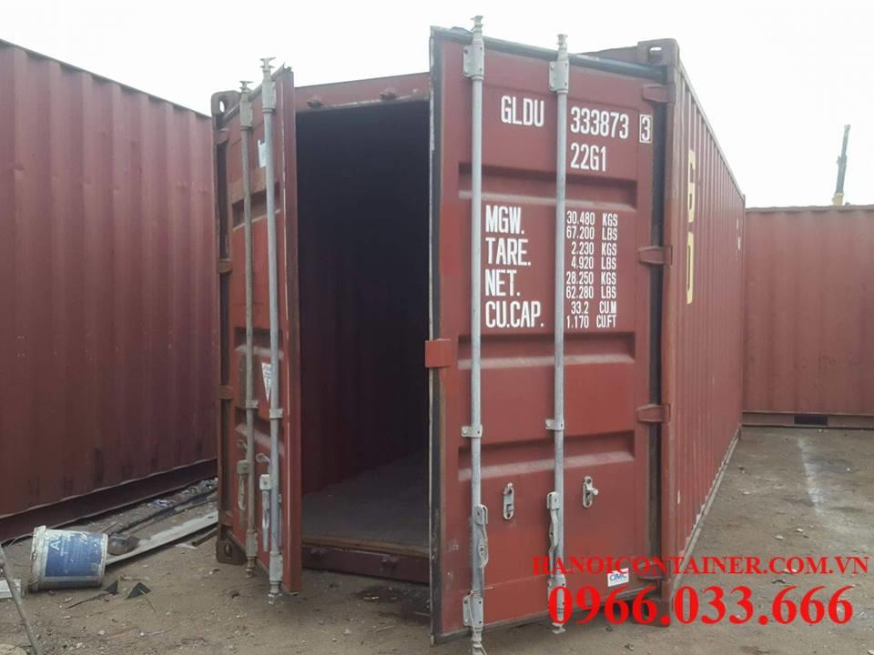 Container 20feet cũ, chất lượng 80%