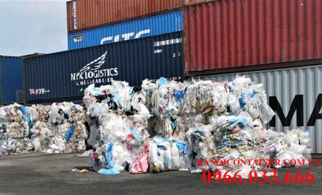 Container chứa nhựa phế liệu