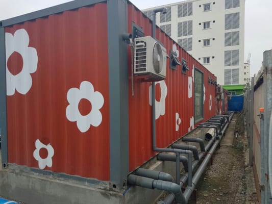 container toilet 20feet