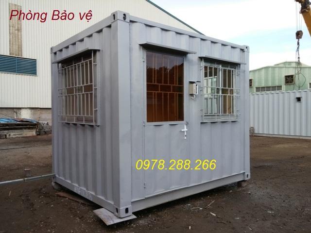 Container làm bốt bảo vệ 10feet