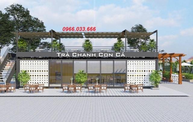 quán trà chanh container